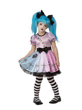Little Blue Skelly Child Costume