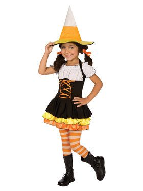 Little Candy Corn Toddler Witch Costume