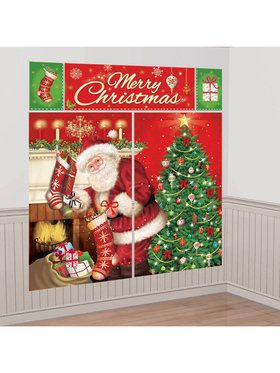 Magical Christmas Scene Setter Wall Deco