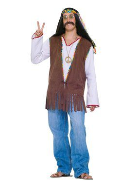 Male Hippie Vest Adult Costume