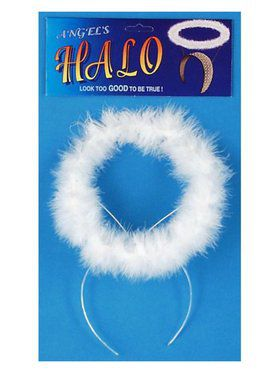 Marabou Halo Costume Accessory for Adults