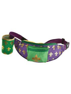 Mardi Gras Fanny Pack Cup Holder