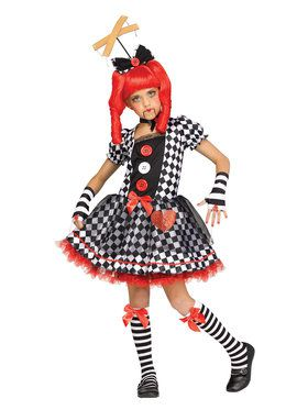 Marionette Doll Girl's Costume