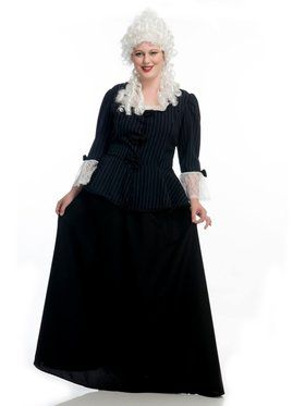 Martha Washington Colonial Plus Adult Costume
