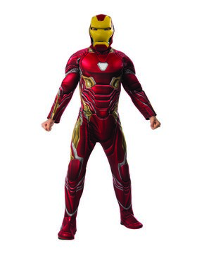 Marvel Avengers Infinity War Deluxe Mens Iron Man Costume