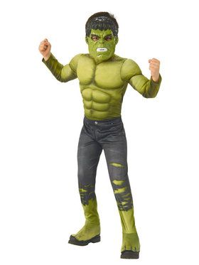 Marvel - Avengers: Infinity War - Deluxe Incredible Hulk - Costume for Boys