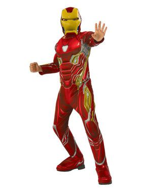 Marvel - Avengers: Infinity War - Deluxe Iron Man - Costume for Boys