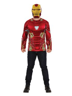 Marvel: Avengers: Infinity War Mens Iron Man Long Sleeve Top
