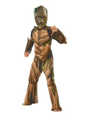 Marvel - Avengers: Infinity War - Deluxe Teen Groot - Costume for Boys