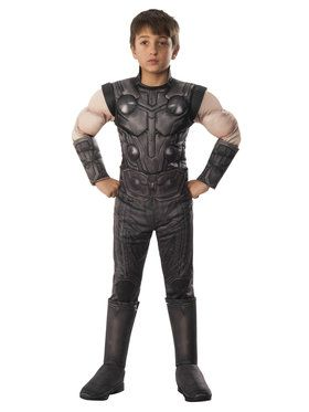 Marvel - Avengers: Infinity War - Deluxe Thor - Costume for Boys