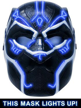 Kids Deluxe Battle Black Panther 2018 Halloween Masks