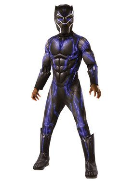 Boys Deluxe Black Panther Jumpsuit