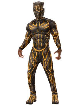 Men's Deluxe Black Panther Jumpsuit