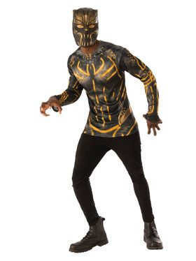Marvel: Black Panther Movie Mens Erik Killmonger Costume Top