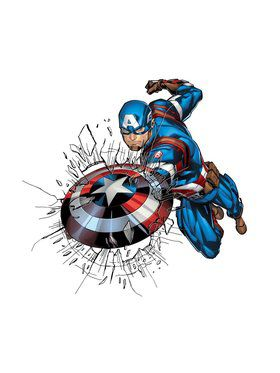 Marvel Comics Captain America Window Stickers