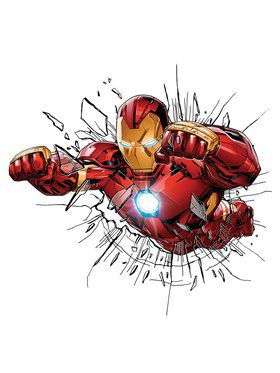 Marvel Comics Iron Man Window Stickers