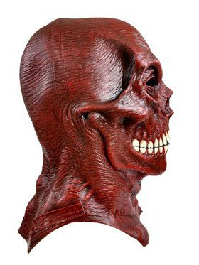 Red Skull Marvel Overhead Latex Mask for Adults