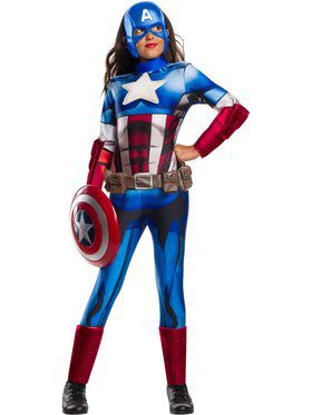 Marvel Universe Captain America Deluxe Child Costume