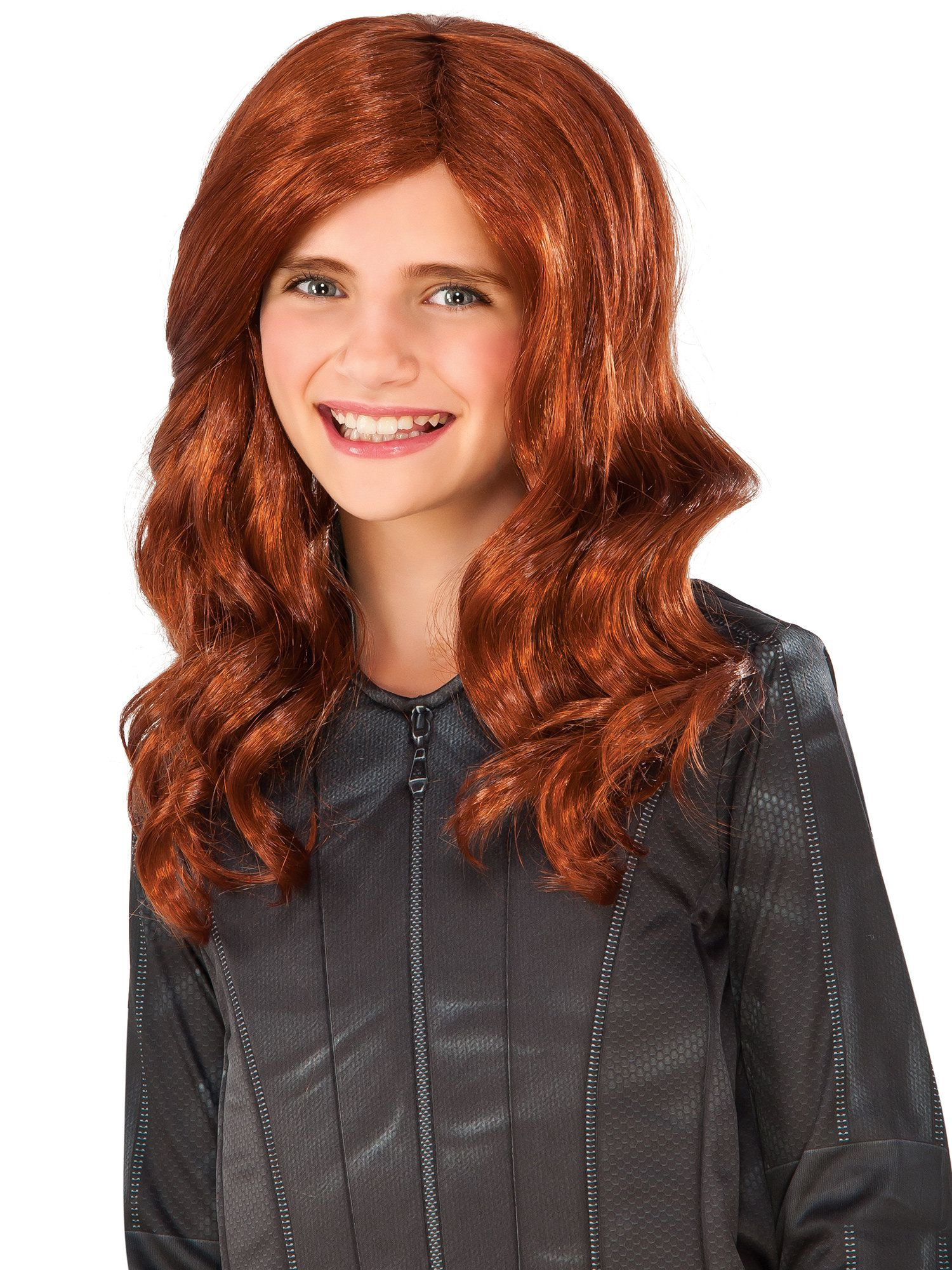 Marvelu0027s Captain America Civil War Black Widow Child Wig - Kids Halloween Costume Accessory | BuyCostumes.com  sc 1 st  BuyCostumes.com & Marvelu0027s Captain America: Civil War Black Widow Child Wig - Kids ...