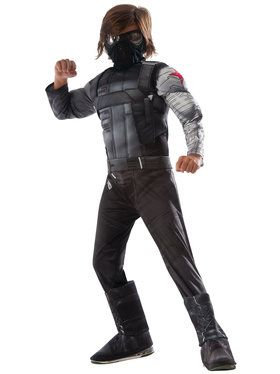Marvel's Captain America: Civil War Winter Soldier Deluxe Muscle Chest Kids Costume