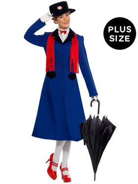 Mary Poppins Plus Adult Costume