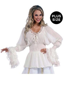 Medieval Adult Plus Blouse One-Size (Plus)