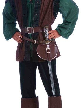 Medieval Double Wrap Belt And Sword