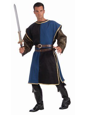 Medieval Tabard - Blue/Black Adult Costume