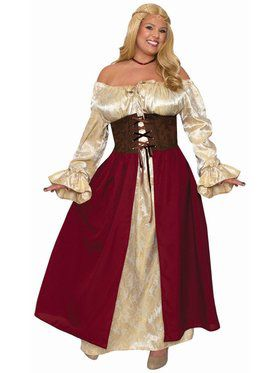 Medieval Wench - Plus Adult Costume