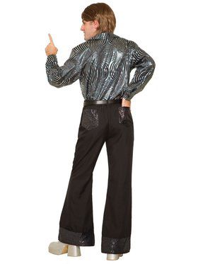 Mens 70'S Black Sequin Pants