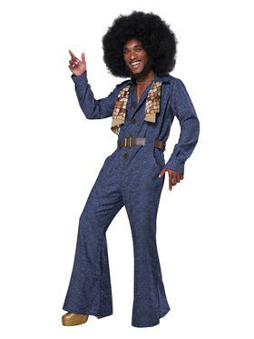 70's Denim Jumpsuit Mens Costume