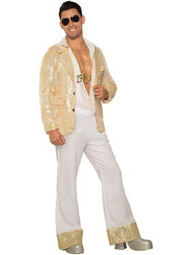 White Disco Pants for Adults