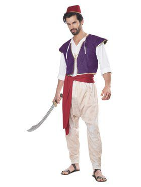 Mens Arabian Folk Hero Costume
