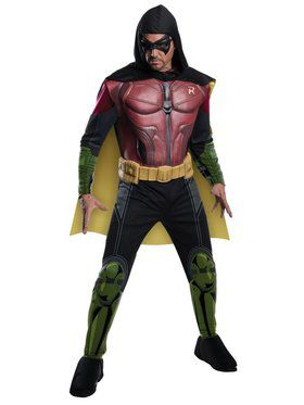 Mens Arkham Robin Muscle Chest Costume