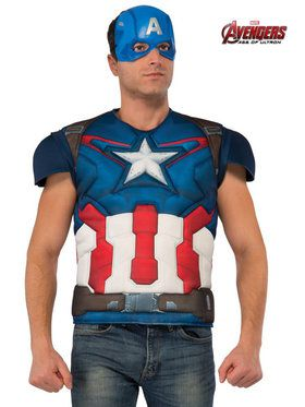 Adult Men's Avengers 2 Captain America Costume