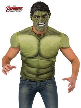Men's Avengers 2 Hulk Costume Top