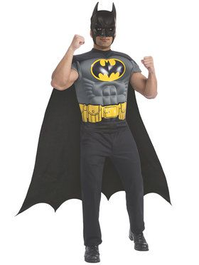 Batman Muscle Chest Top Costume for Men
