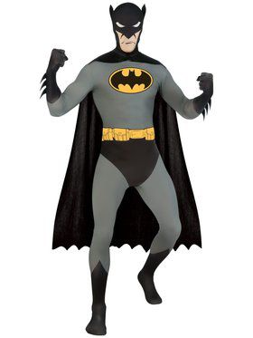 Mens Batman Skin Suit Adult Costume