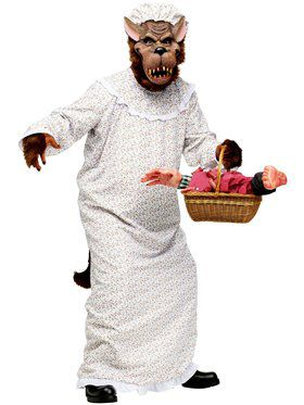 Mens Big Bad Granny Wolf Adult Costume