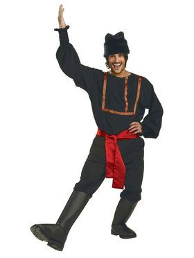 Mens Black Russian Costume