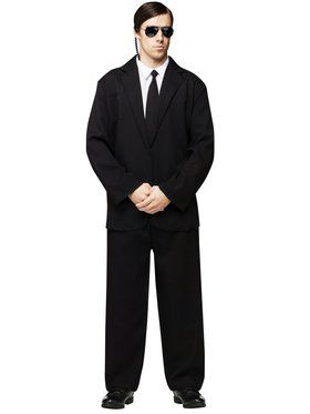 Mens Black Suit Adult Costume