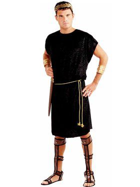 Mens Black Tunic Adult Plus Costume