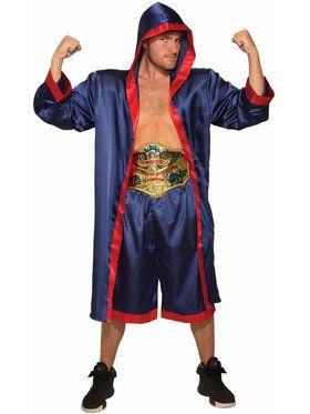 Men's Blue Boxer Adult Costume