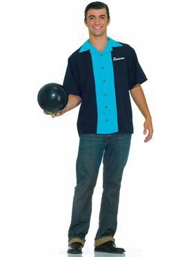 Mens Bowling Shirt Adult Costume