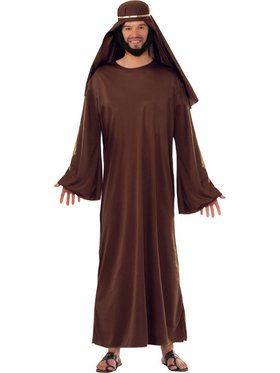 Mens Brown Biblical Robe With Headdress