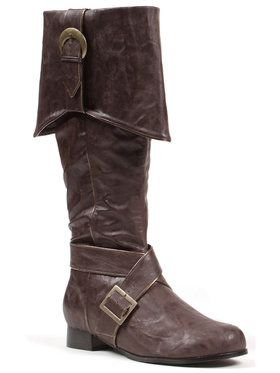 Brown Pirate Boots Men's Accessory