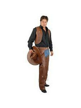 Men's Chaps &Vest-Leather-Plus