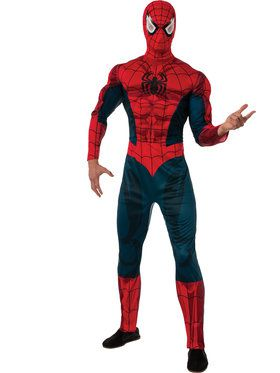 Spiderman Classic Muscle Chest Costume