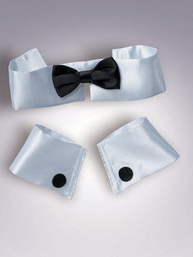 Men's Collar, Cuff And Tie Set