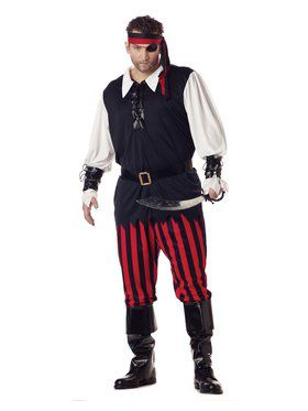 Mens Cutthroat Pirate Adult Plus Costum